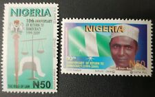 NIGERIA  2009 - 10 TH ANNIVERSARY RETURN TO DEMOCRACY RETOUR DEMOCRATIE RARE MNH