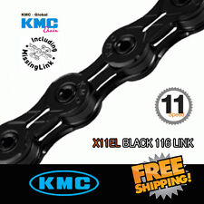 KMC X11EL Black Chain 11 Speed 116link with Missing Link For Shimano/Sram