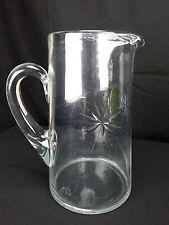 Vintage Clear Glass Wheel Cut Bethlehem Christmas Star 48oz Juice Pitcher