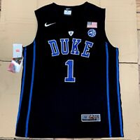 Zion Williamson Elite Duke Black Devils Mens Basketball Stitched Jersey M-2XL