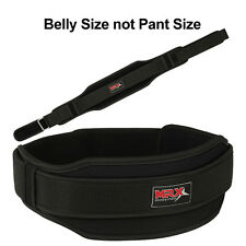 """Weight Lifting Belts Gym Exercise Fitness Back Support 5"""" Wide Training Black, L"""
