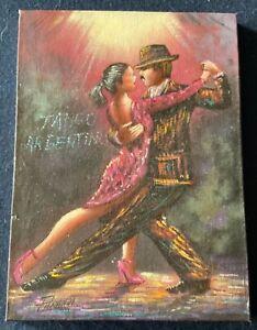 "Estate Find: F. Panardi ""Tango Argentine"" acrylic on canvas 2003"