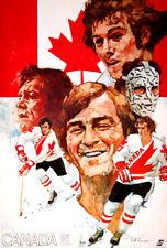 Canada Cup 1976 TEAM CANADA HOCKEY Vintage Original POSTER - Lafleur, Sittler, +