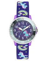 s.Oliver Montre pour enfants filles so-3434-pq Licorne violet avec bracelet de