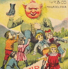 Mundell Solar Tip Shoe Bad Boots Before & After Fantasy Sun Anthropomophic Card