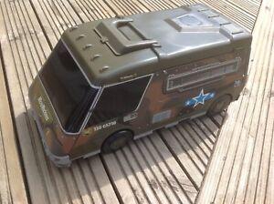 Original Vintage Micro machines - 1991 Army Military Van Truck - Foldout Playset