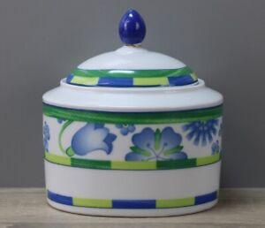 Winterling Dessina grün/blau Zuckerdose mit Deckel ca. 10 x 8,5 cm/MANGEL