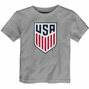US Soccer Toddler Primary Logo T-Shirt - Heathered Gray