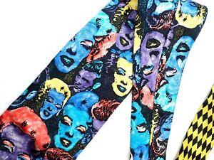 GIANNI VERSACE tie Marilyn Monroe James Dean silk black purple yellow vintage