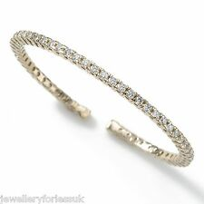 18Carat White Gold Expandable Diamond Cuff Bangle 1.00 carat 4-Claw
