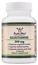 Sulbutiamine (Nootropic Supplement) Made in USA - 50 Capsules 200mg
