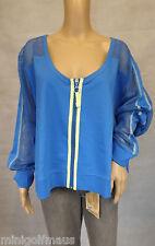 ★ ULLA POPKEN ★ 58/60 ~ Stylische Shirtjacke ~ Jacke ~ blau ~ Mesh-Einsätze