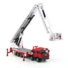 Diecast Truck Model  Red Aerial Ladder Rescue Truck Fire Vehicle By KDW