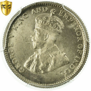 [#497093] Coin, Hong Kong, George V, 10 Cents, 1935, PCGS, MS65, MS(65-70)