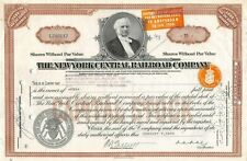 New listing The New York Central Railroad Company Capital Stock Certificate 1938
