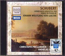 Christoph PREGARDIEN & Andreas STAIER: SCHUBERT Goethe Lieder CD Am Flusse Mond