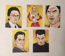 Heroes Sketch Card Set of 5 by Mark Spears 2008 Sylar Hiro Claire Peter Nathan