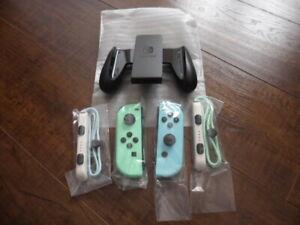 Nintendo Animal Crossing New Horizons Switch Joy-Cons W/ Strap Grip New *Fast!