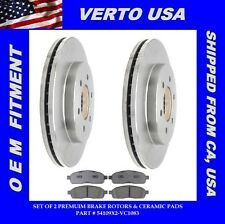 Set Of 2 Brake Rotors- Front & Ceramic Pads fit Ford , Lincoln  54109X2-VC1083