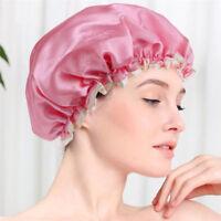 3 Colors Women Waterproof Elastic Shower Bathing Bath Salon Hair Head Cap Hat