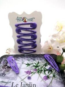 Purple Women's Girls Metal Clips Barrette Slide Grips Hair Clip Hairpins 6 pcs