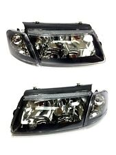 97-01 VW PASSAT B5 EURO HEADLIGHTS W/ CORNER LIGHTS - BLACK