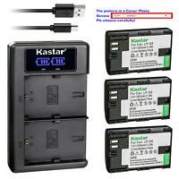 Kastar LCD Dual Charger Battery for Canon LP-E6N LC-E6E & Canon EOS 7D Mark II