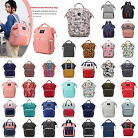 Mummy Maternity Nappy Bag Large Capacity Travel Waterproof Baby Nursing Backpack