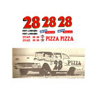 28 Fred Lorenzen 1958 Ford 1/64 scale decal AFX Tyco Lifelike Autoworld