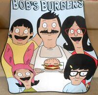 NEW Bob's Burgers Family Photo Soft Plush Fleece Throw Gift Blanket Tina Louise