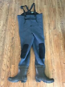 Hodgman Caster Neoprene Cleated Bootfoot Chest Waders Fishing Overalls Boots 12