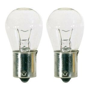 2PK - Satco S3723 12W 12V S8 93 Clear BA15S Incandescent light bulb