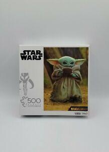 Buffalo Games Star Wars The Mandalorian 500 Pc Baby Yoda Puzzle w/ Poster