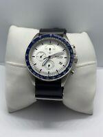 Fossil CH3029 Men's Leather Analog White Dial Quartz Genuine Wrist Watch ZZ307