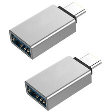 2x USB-C Type C to Type A Female Data OTG Adapter, Male USB C to USB A Converter