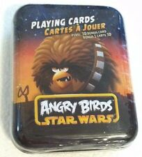 NEW Star Wars Angry Birds Playing Cards in Tin Case FREE SHIPPING