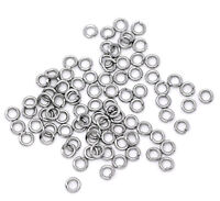 500 Stainless Steel Open Split Rings 4mm Dia. Findings Sliver Tone Split Rings