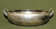 Antique hand made small silver plated bowl