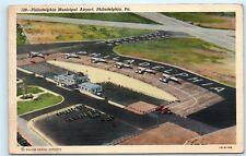 *1944 Aerial View Philadelphia Municipal Airport Pennsylvania Postcard B44