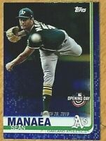 2019 Topps Opening Day Sean Manaea #143 Blue Foil SP Oakland A's