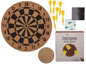 Cork Memo Dart Board Dartboard Office Corkboard Sporting Pin Board Stationery