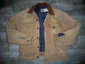 Carhartt Men's Blanket Lined Traditional Work Coat Chore Jacket Men's Size Small