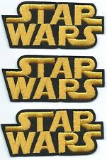 3x Star Wars Logo Embroidered Patch Iron-on Art Good Luck Charm Magic