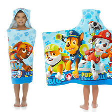 KIDS HOODED BATH TOWEL Cotton Paw Patrol Toddler Boy Beach Pool Shower Bathrobe