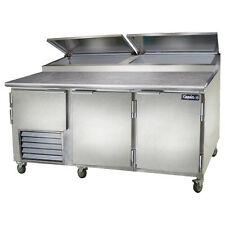 Leader Pt72, 72x36x43-Inch Refrigerated Pizza Preparation Table, 24.6 Cu. Ft, Se