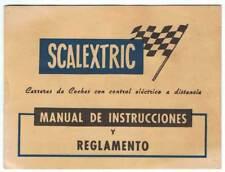 Scalextric. Manual de instrucciones y reglamento de Exin-Lines Bros