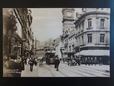 Monmouthshire NEWPORT Commercial Street & Town Hall TRAMS & PIANO SHOP c1906
