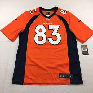 Nike Denver Broncos Wes Welker NFL Game Jersey Mens Size L 468951-844 Orange