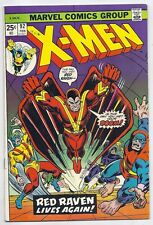 (1974) X-MEN #92 Vs RED RAVEN! COOL BRONZE AGE ISSUE! 7.5 / VERY FINE-