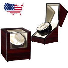 Silent Automatic Rotation Watch Winder Wristwatch Storage Display Case Box New